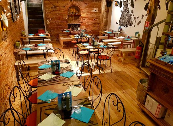Intérieur restaurant El Chivito